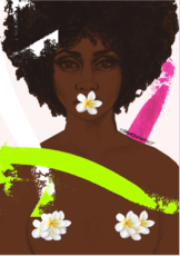 STILLNESS IN AFRICAN VIOLETS BY HONEY WILLIAMS (AFROTHERAPY PORTFOLIO)